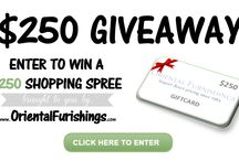 """Giveaways / Follow Our """"Giveaway"""" Board to Stay Up-to-Date on All of Our Giveaways & Contests."""