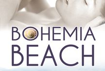 Bohemia Beach book covers / Covers of the books in Lucy Lakestone's Bohemia Beach Series of steamy romances, set among a circle of young artists in the beach community they call home.