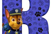 alfabeto patrulha pata