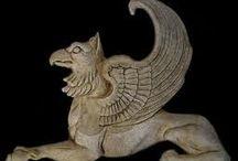 Mitikus lények griffek oroszlánok, főnix