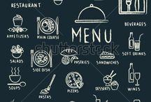 vectores de visibilidad alimentos