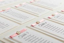 Wedding Table Plan / Our stunning table plans are layered with our premium hammered card and mounted onto board.