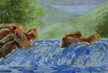 Paintings in My Folksy Shop / by Stephanie Guy Fine Art