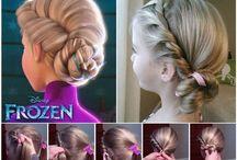 Tyttöjen hiuksia
