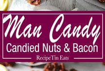 Candied bacon and nuts
