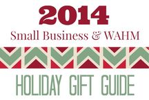 Small Business and WAHM Holiday Gift Guide 2014 / Buying from a small business or WAHM (work at home mom) is an excellent way to find that special gift you cannot buy just anywhere.  Would you like your business featured? http://bit.ly/1unQ9TE