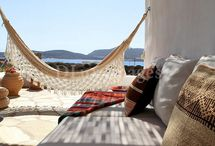 Hammock Hot Spots / Relaxing Hammock Spots to Hang during your Summer Holidays in Greece or any other Place in the World. You'll be gently rocked to sleep by the ocean breeze!