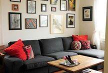 Lounge, kitchen, dining decor