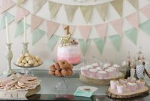 Twins first birthday / Decorations and food