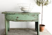 Farmhouse and Primitive Style Benches / A collection of beautiful benches.