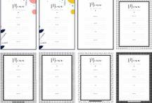Organisation menu