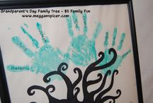 $5 Family Fun - Grandparent's Day Family Tree Craft Project / Total Activity Cost: $4  Grandparent's Day is September 7th. Turn this fun and whimsical craft project into a sweet gift to the grandparents from your kids.  See this and more $5 Family Fun ideas at www.megganspicer.com or www.facebook.com/megganspicer