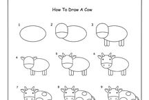 how to draws for my baby / I'm collecting easy how-to-draws here to entertain my little boy