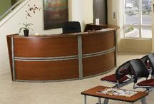 Reception Desks / Your reception desk and furnishings provide your visitors the first impression of your business as they enter your office. This impression can make a positive statement about your business. Our reception desks, and reception area furniture not only help you make the positive impression your customers expect, our low prices help you maintain control of your budget.
