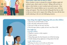 Tips to Help Siblings Cope / Tipsheets to help parents and siblings cope when brother/sister is ill or injured, available in both English and Spanish.