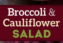 brocolli n cauliflower salad recipe