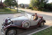 1939 Jaguar SS100 Replica / Classic Roadsters Duke.  Jaguar SS100 Replica. Mustang II suspension, Toyota 3TC 1.8L Engine, A40 Transmission.