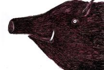 все о кабанчиках. all about boars / все о кабанчиках. all about boars. dmitry geller. artworks. for sale. 21x29. chinese ink. paper \ рисунки дмитрия геллера. работы продаются