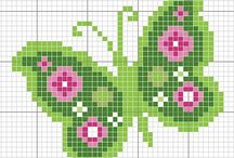 Cross stitch: Butterfly