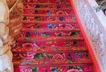 Escaleras decoupage