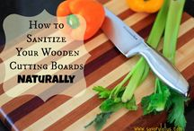 Sanitize wooden cutting boards