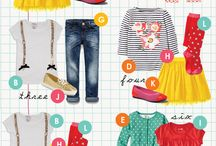 Kids wardrobes and packing lists