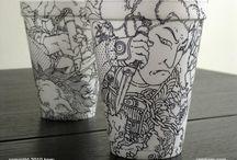Cheeming Boey Coffee Cup Artwork