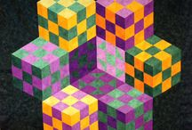 Quilt Design: 60-Degree Tumbling Blocks / by Carmen Martinez