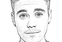 Celebrities - coloring pages / Coloring pages for children and adults with most famous persons of showbiz world.
