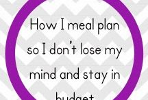 Meal Planning / Tips for headache free meal planning during busy times.
