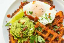 Breakfast - from waffles to avocados / Everything yummy for breakfast