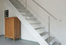 CONCORDE / A WINK TO AVIATION!  minimalistic / surprising / airplane wing  Aluminum design stairs
