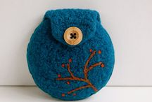 Felted purse