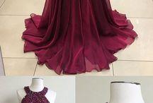 vestidos guindas
