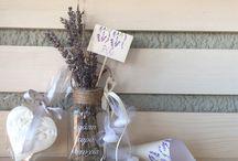 Γάμος με θέμα τη λεβάντα / Μπομπονιέρα γάμου