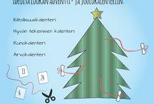 Työskentelyvinkkejä / askartelu, tehtävät, alakoulu, uskonto, katsomusaineet, joulu, adventti, pääsiäinen, keskustelu, motivaatio, uskonnolliset juhlat, monisteet