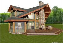 February 2016 - Floor Plan of the month -Baby Hemlock / Just before Christmas, we redesigned the #Hemlock floor plan for a customer from #Alberta that just loved this design, but wanted it more compact. That is how the baby Hemlock was born! #loghomedesign #floorplans #logcabindesign