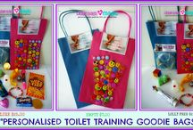 Toilet Training Goodie Bags / A personalised Goodie bag for your little one to 'lucky dip' after a great day or week on the toilet...