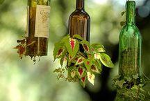 Jardines urbanos con botellas