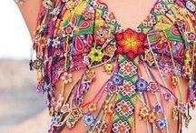 Vestidos e nikinis croche