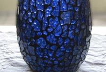 Mosaico cacos de vidro