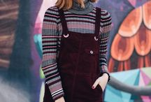 sweater and pinafore
