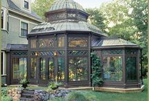 Glass house conservatory