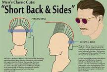 man's hair