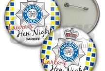 Hen Party Police Fancy Dress Accessories / Collection of police themed hen party accessories and sexy police woman fancy dress ideas.