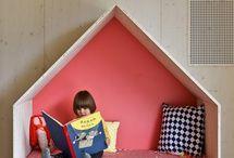 House bench/book case
