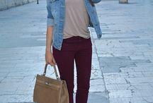 Pantalones vinotintio