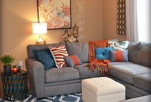 Orange and blue bedroom! / Facelift to our master bedroom... / by mlml