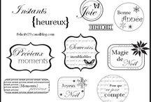 imprimables: etiquettes, papier