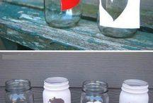 pots vidre decorats